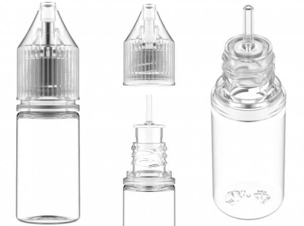 Chubby Gorilla 10ml V3 Pet Unicorn Leerflasche Flasche transp. + transparenter Deckel