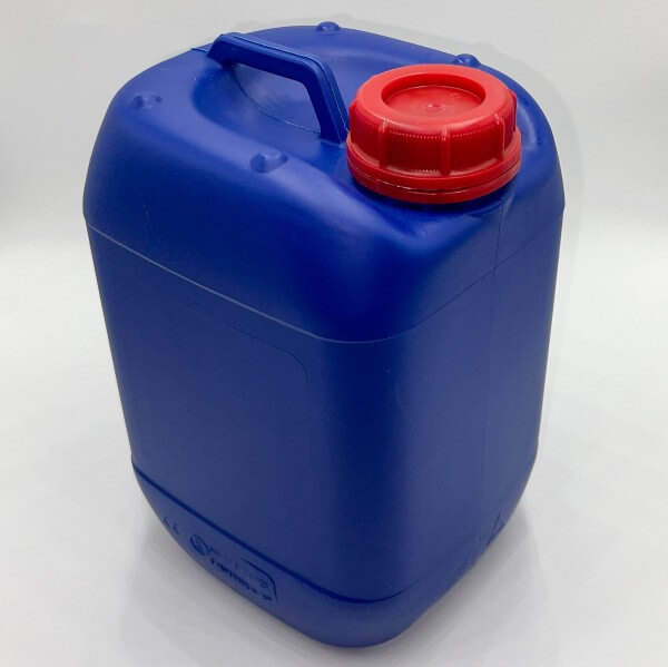 Kunststoff Kanister blau 5 Liter UN stapelbar mit Schraubverschluss DIN 51 rot