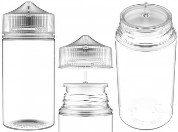 Chubby Gorilla 200ml V3 Pet Unicorn Leerflasche Flasche transp. + transparenter Decke